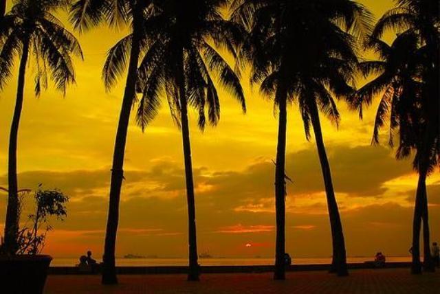 manila bay, sunset