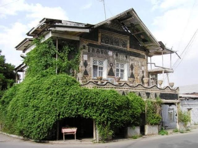 azeri city, europe, azerbaijan, bottle house