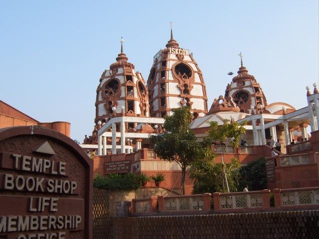 iskcon, temple, india, new delhi