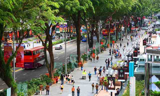 orchard road, shopping street, singapore