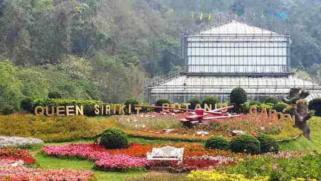queen siriki botanical garden, chiang mai, thailand