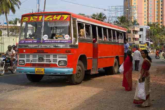 kochi, transportation, bus, india