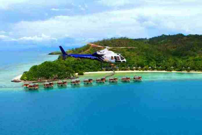aerial sightseeing, fiji, pacific