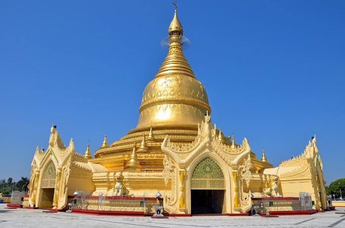 maha wizaya pagoda, myanmar, attraction