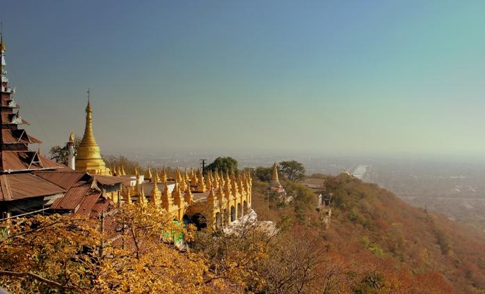 myanmar, mandalay hill, attraction