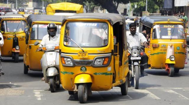rickshaw, transportain, india, chennai