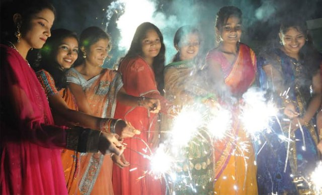 culture and festivals, india, hyderabad, diwali