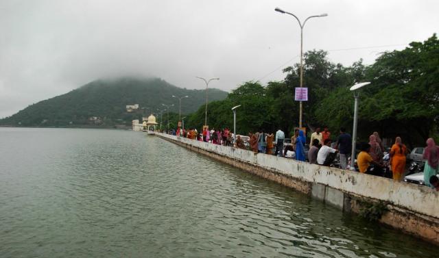 fateh sagar lake, india, udaipur