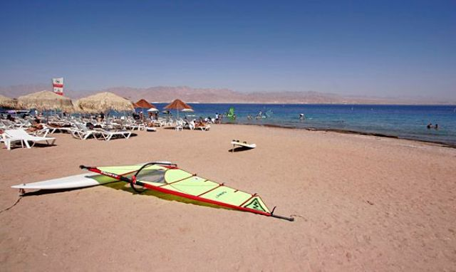 eilat village beach, eilat, israel