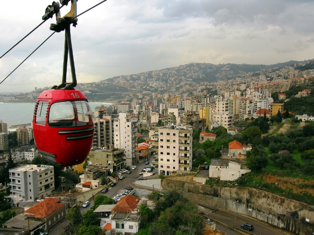 telepherique, lebanon, jounieh