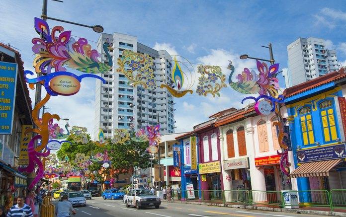 little india, singapore, shopping area