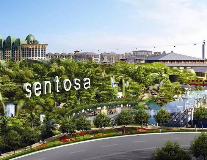 sentosa, island, singapore, attraction