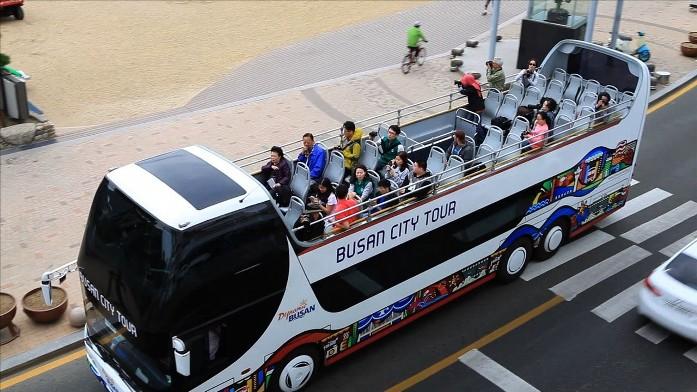 city bus, busan, korea,