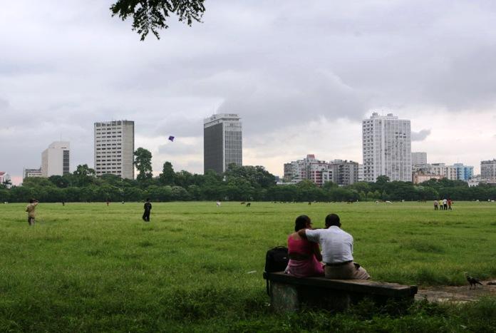maidan, park, calcutta, india
