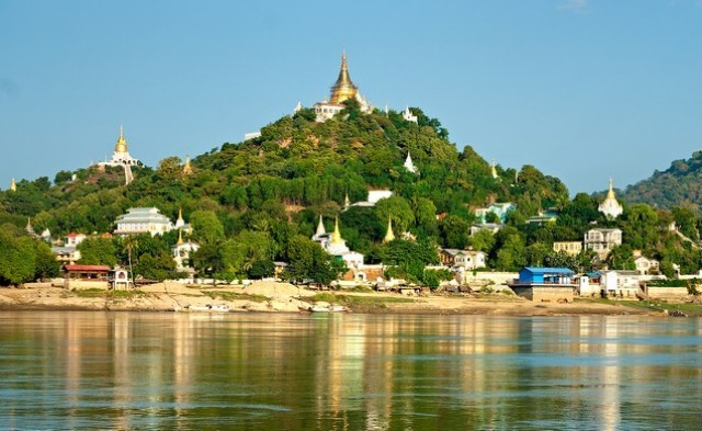 sagaing, town, myanmar,