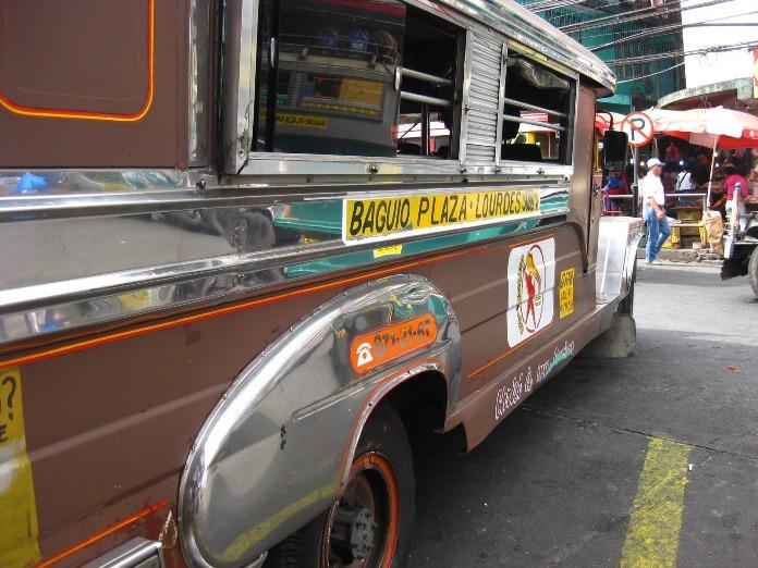 getting around baguio, philippines, jeepney