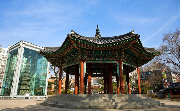 pagoda park, korea, seoul