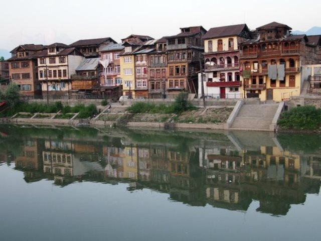 jhelum river, srinagar, india