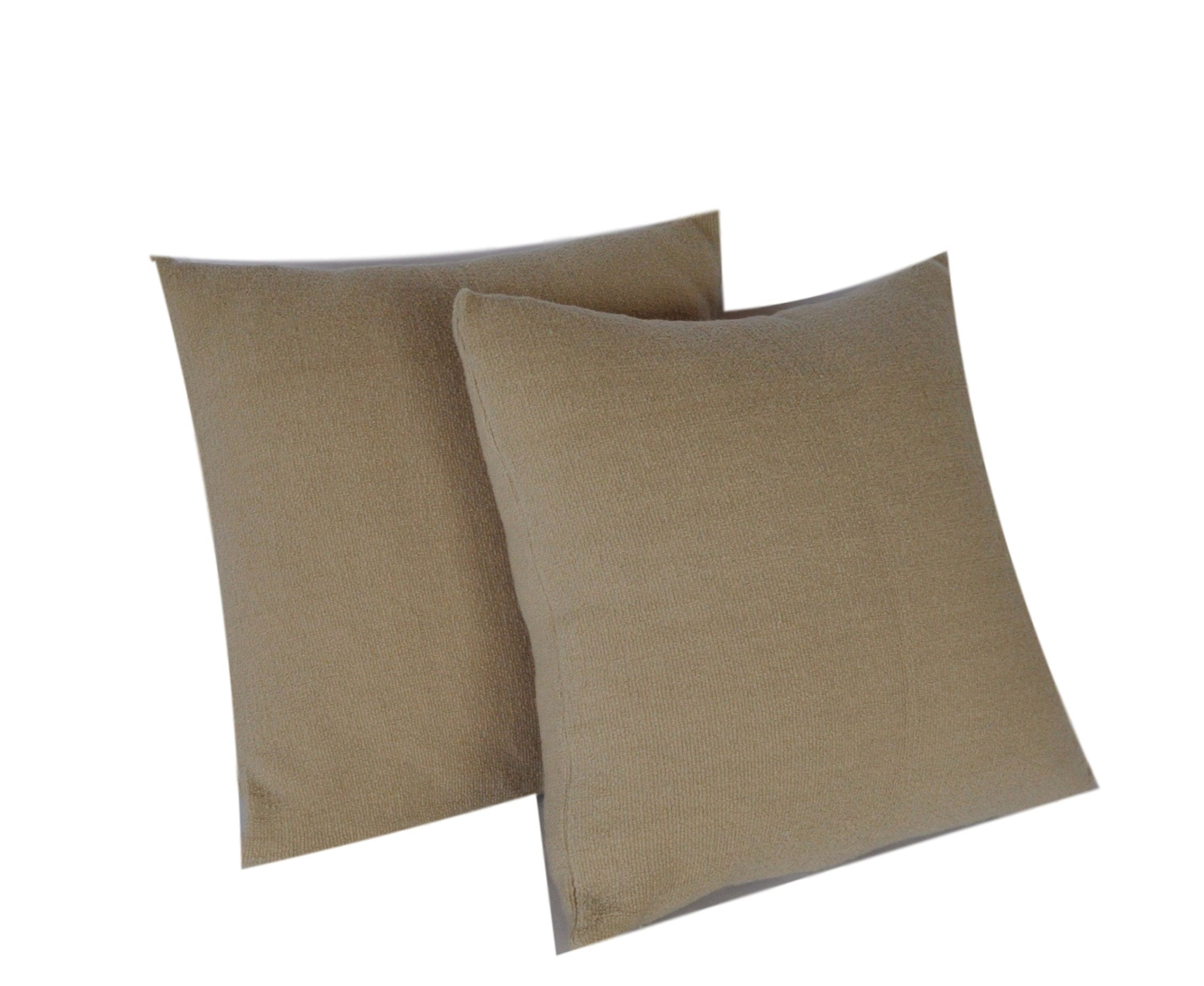 set of two outdoor pillow slipcovers for 18 x 18 pillow inserts