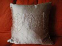 a new leaf - silk with hand embroidery