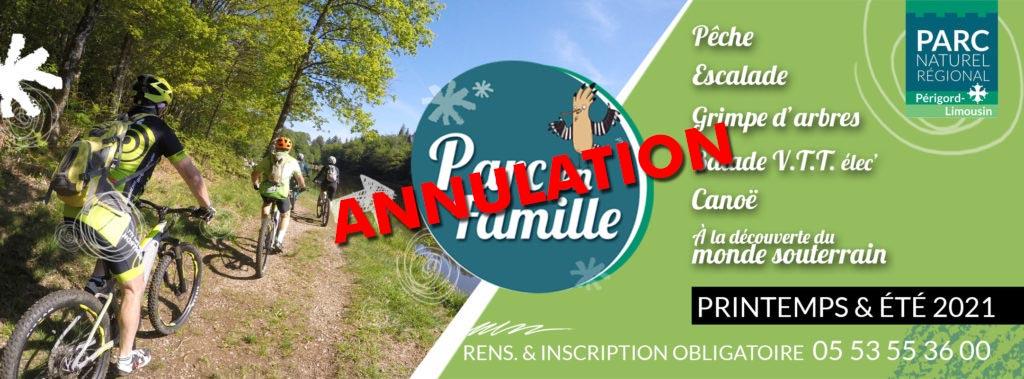 ANNULATION -PARC EN FAMILLE