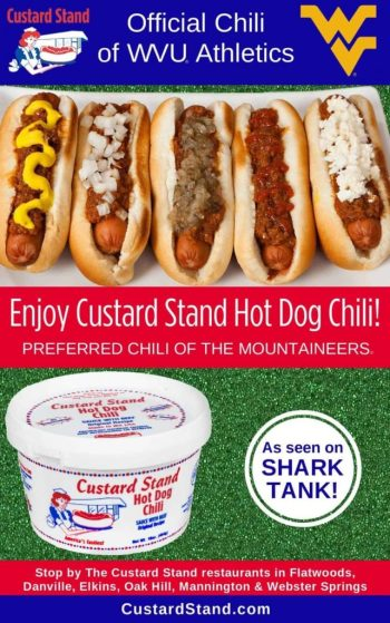 Custard Stand Chili Official Chili of WVU Athletics