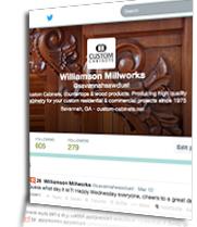Custom Cabinets Twitter