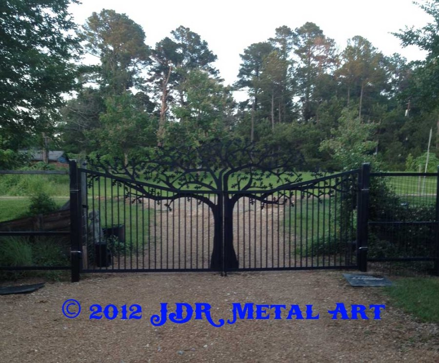 Louisiana Custom Drive Entry Gates by JDR Metal Art