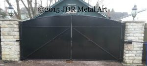 Metal security gate for Bexley home near Columbus, Ohio.