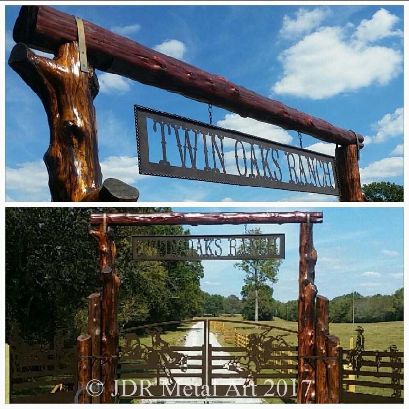 Horse themed gate designs for Ranch entrances ideas