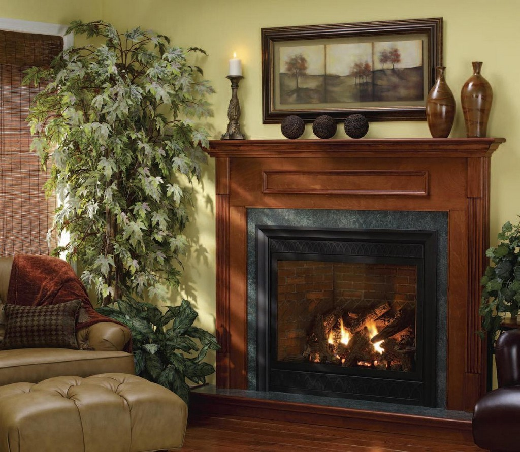 Wall Mounted Gas Fireplace On Custom Fireplace Quality