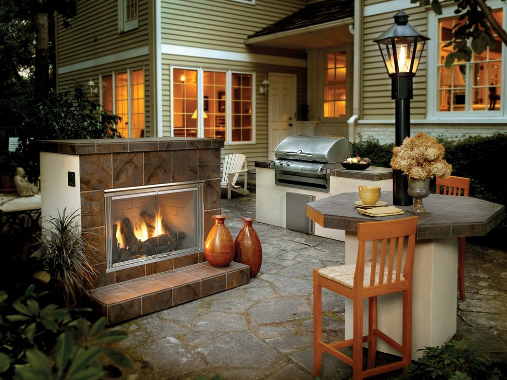 Outdoor Natural Gas Fireplace On Custom Fireplace Quality