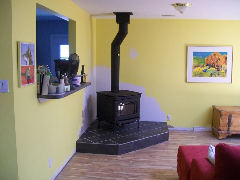 How To Install A Wood Stove On Custom Fireplace Quality