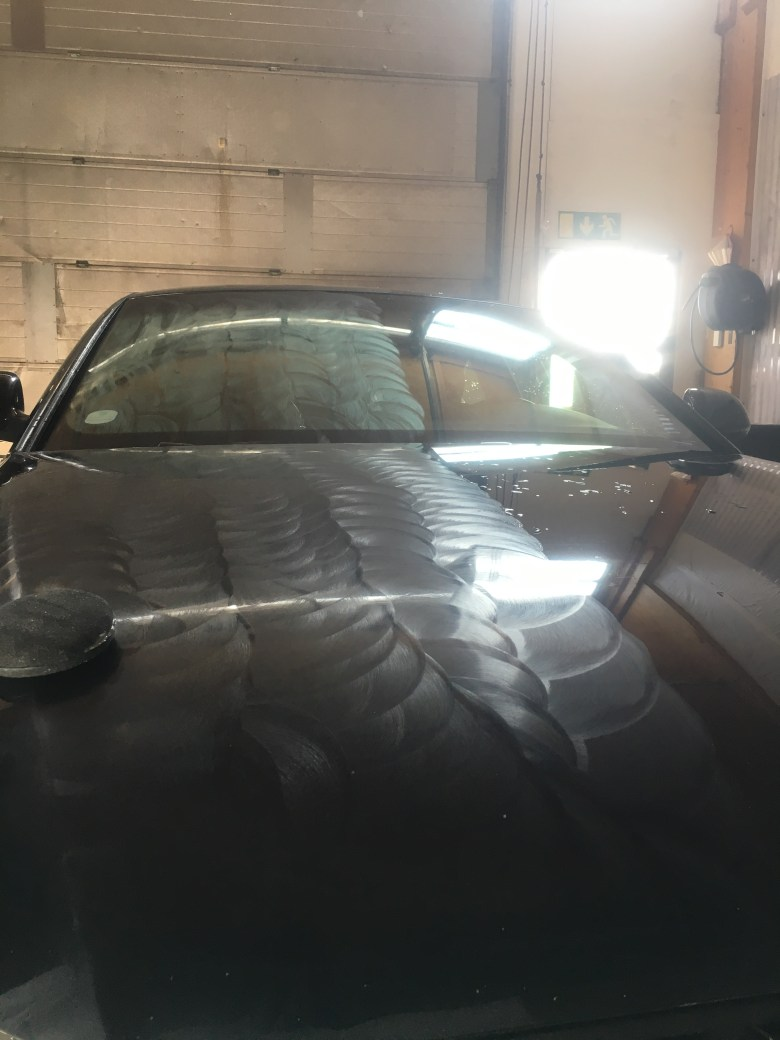Audi A5 kovavahaus ti-hallissa