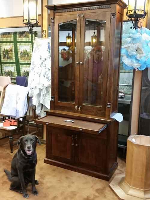 Amish Custom Gun Cabinet With Safe Amish Custom Gun Cabinets