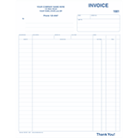 HVAC Service Invoices Custom Printed 8 5x11 invoices