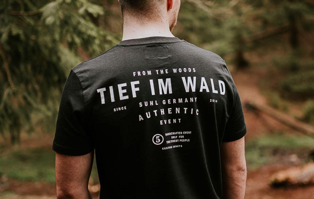 "Tief Im Wald – Calocedrus T-Shirt ""from the woods"" (Black) *limitiert*"