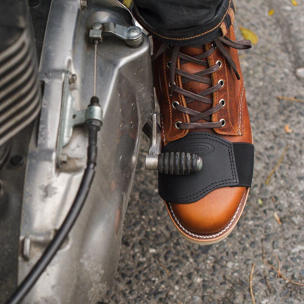 バイク用品] シフトアップで革靴を傷めないプロテクター