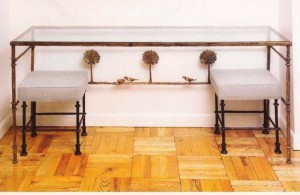 Diego Giacometti Console with Two Benches