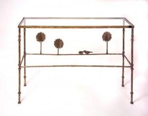 Diego Giacometti Console Three with Bird & Dish