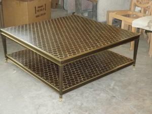 Thomas Buraki Base Brass, Bronze Table