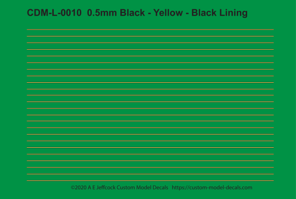 CDM-L-0010 0.5mm Black - Yellow - Black Lining