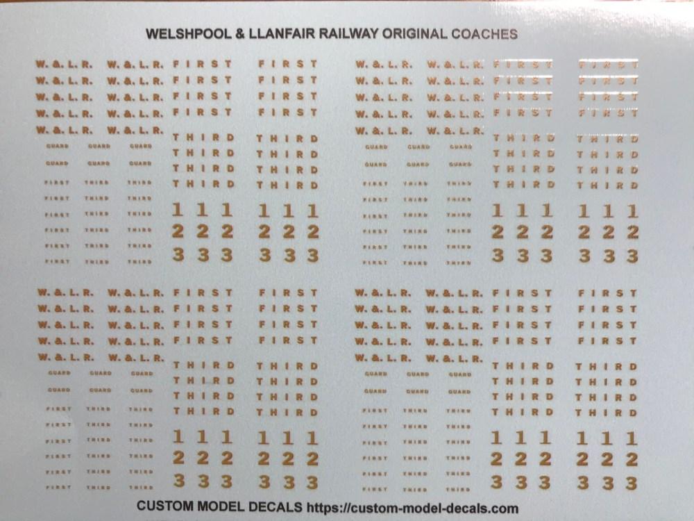 Welshpool & Llanfair Railway original coaches 4mm scale