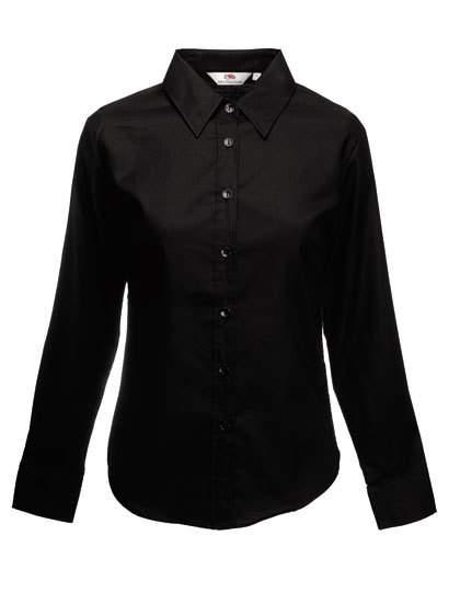 Fruit of the Loom Damen Kurzarm Bluse Freizeit-Business Oxford Shirt Hemd