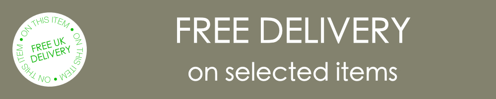 """A banner that reads """"Free delivery on selected items."""""""