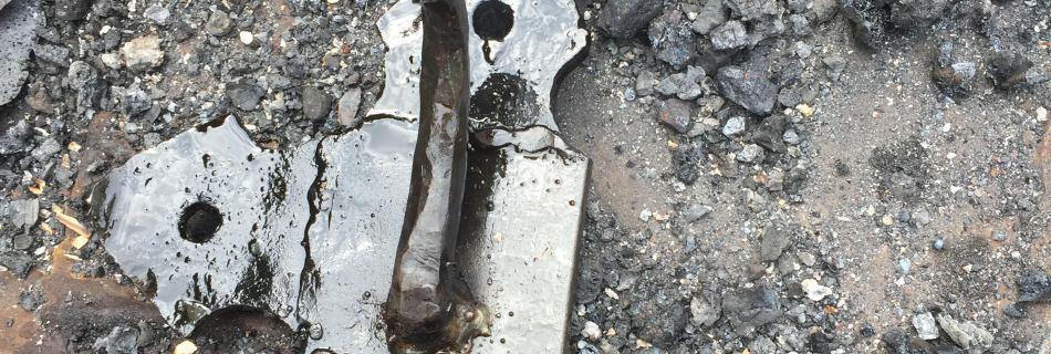 2016 - 'cave door clasp' hammered steel