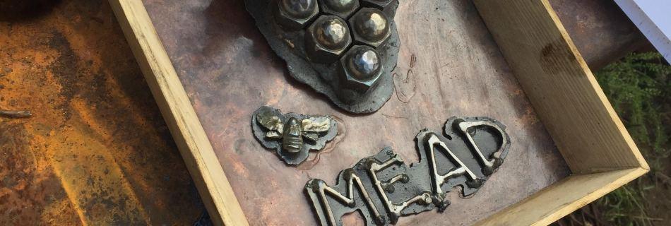 "2017 'lug nut mead' 4""x10""x12"" - copper-steel-black walnut"