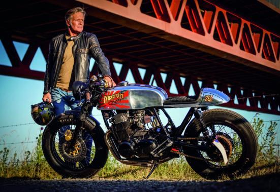 »Die Norton Commando war einfach zu schade fürs umbauen, für den Cafe Racer musste ich mir etwas anderes suchen. Und was wäre geeigneter als ein Motorrad, das Geschichte geschrieben hat?«