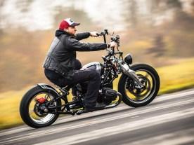 Von wegen für die Galerie, Ulfs BMW-Chopper fährt sich hervorragend