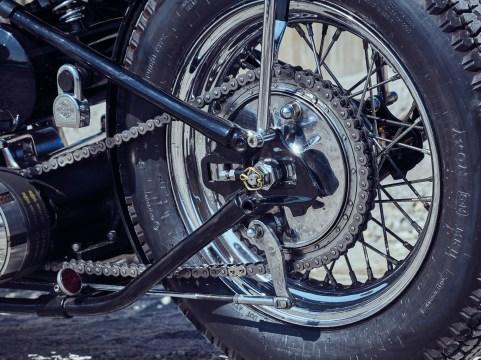 Für den Großteil der Chopperfans ein Muß –der Hinterantrieb per Kette